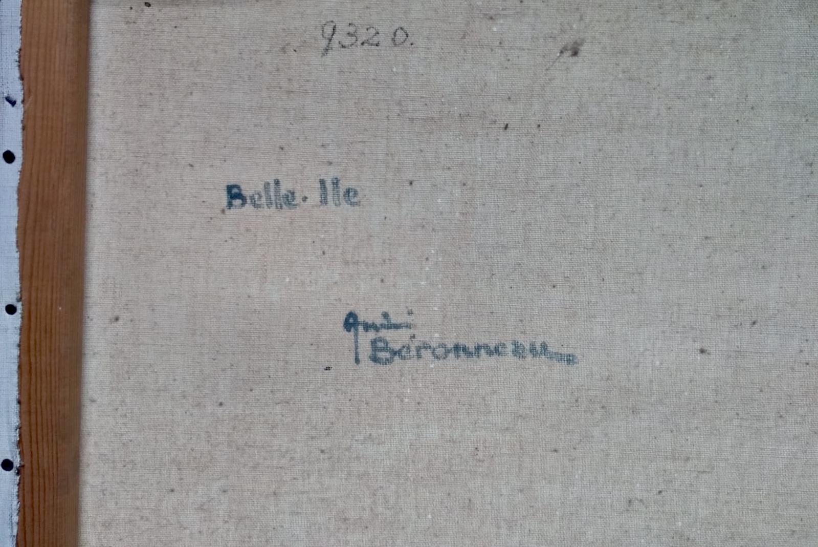 Lot 19 - André Beronneau Belle Isle. Signed Oil Painting