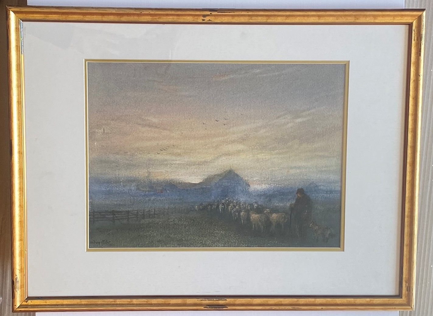 Lot 48 - Original Signed Watercolour. William Miller - A Glimpse Of Home