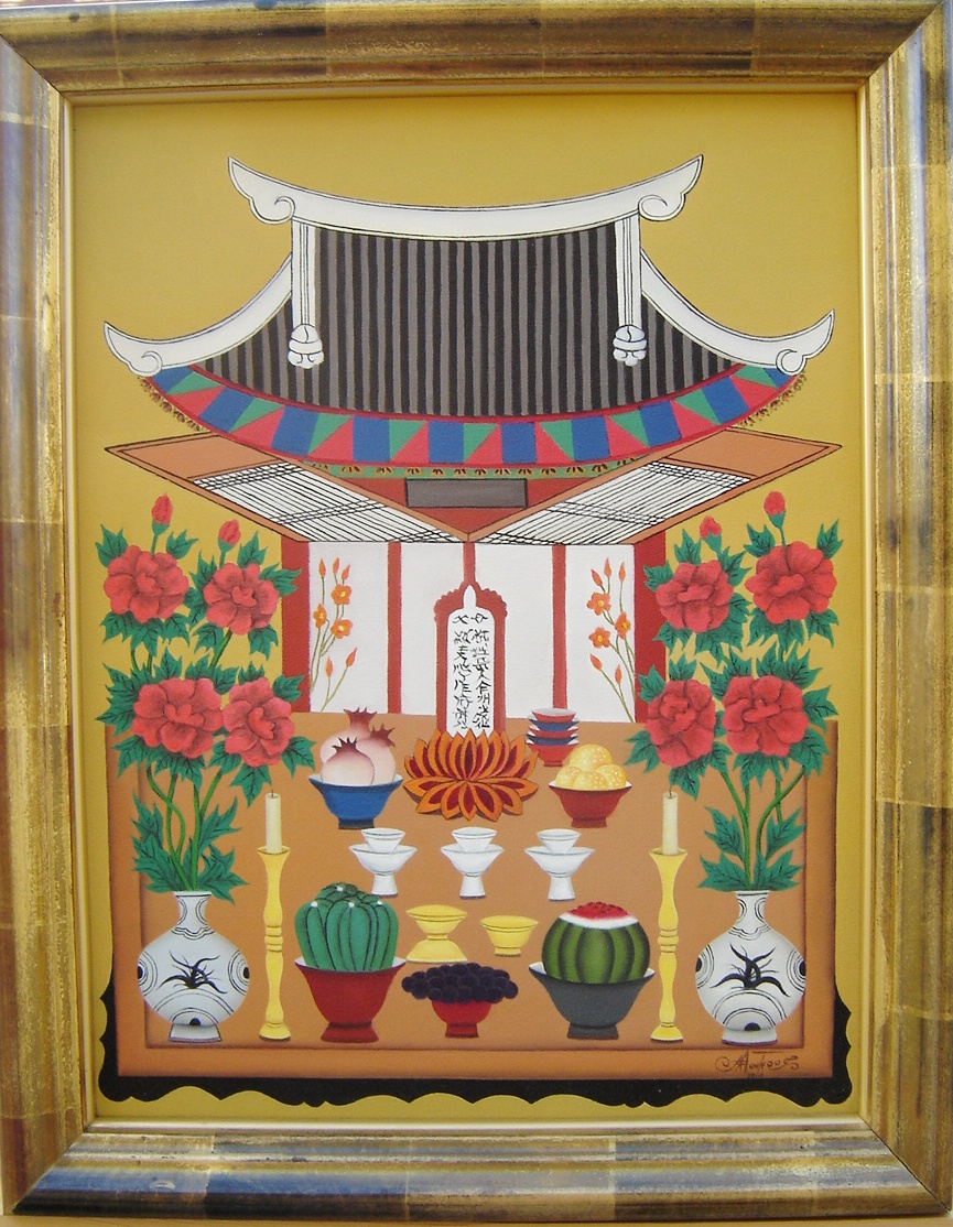 Lot 23 - Signed Asian Oil On Canvas
