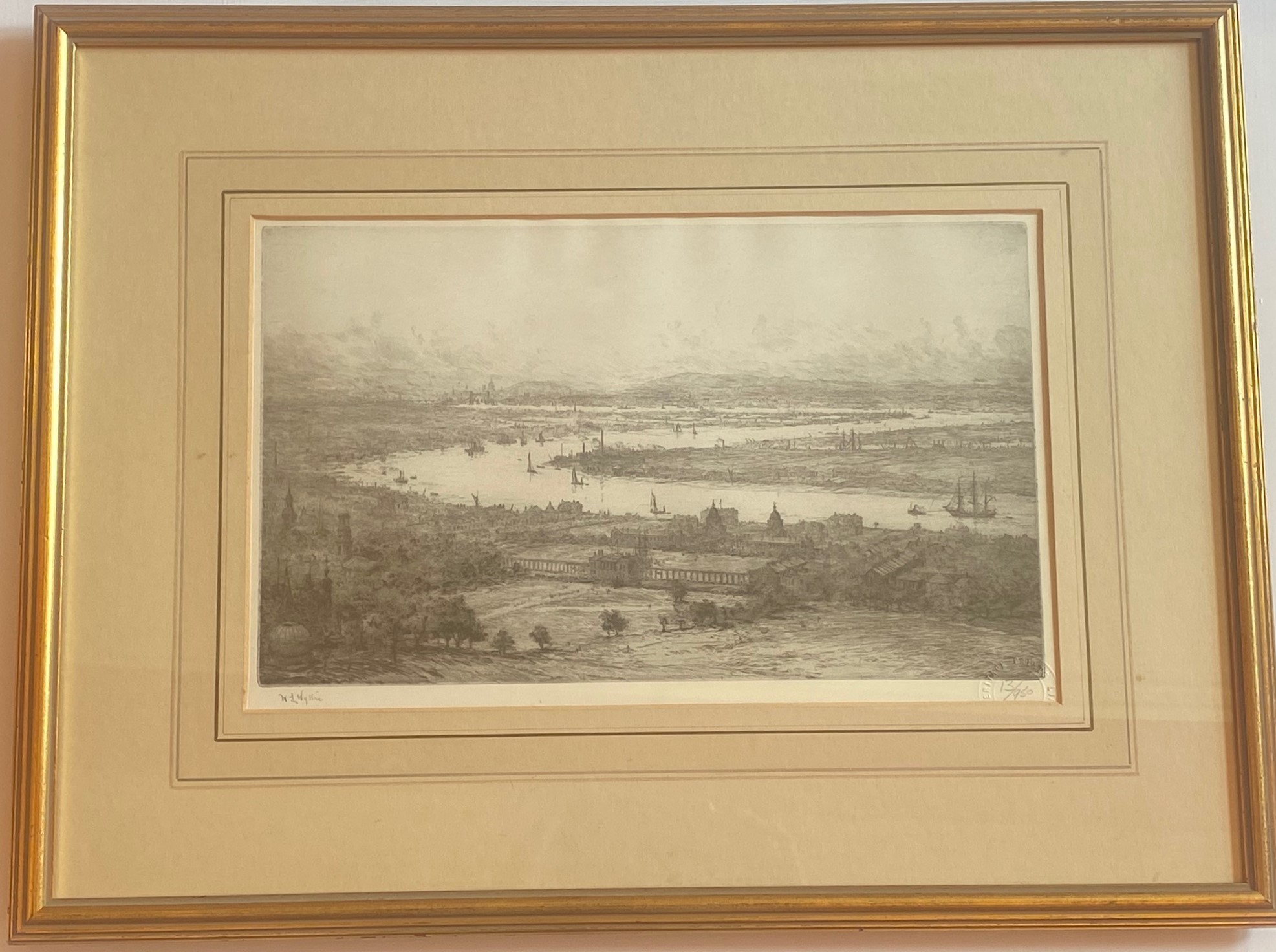 "Lot 36 - William Lionel Wyllie signed limited edition print ""Greenwich"" 13/950"