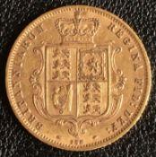 1873 Gold Half Sovereign DN 238