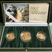 2007 UK Gold Proof Sovereign Set