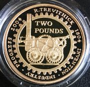 United Kingdom 2004 Gold Proof Double Sovereign/Steam Locomotive £2
