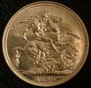 1896 Gold Sovereign