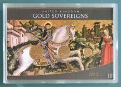 UK 2012 Uncirculated Gold Sovereign Set