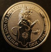 2oz Queen's Beasts 999.9 Silver Coin- The White Lion of Mortimer