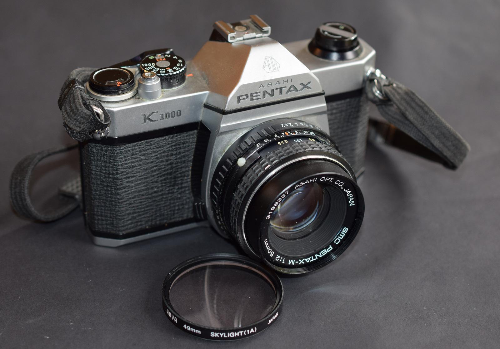Lot 25 - Rare Asahi Penta K1000 With Lens