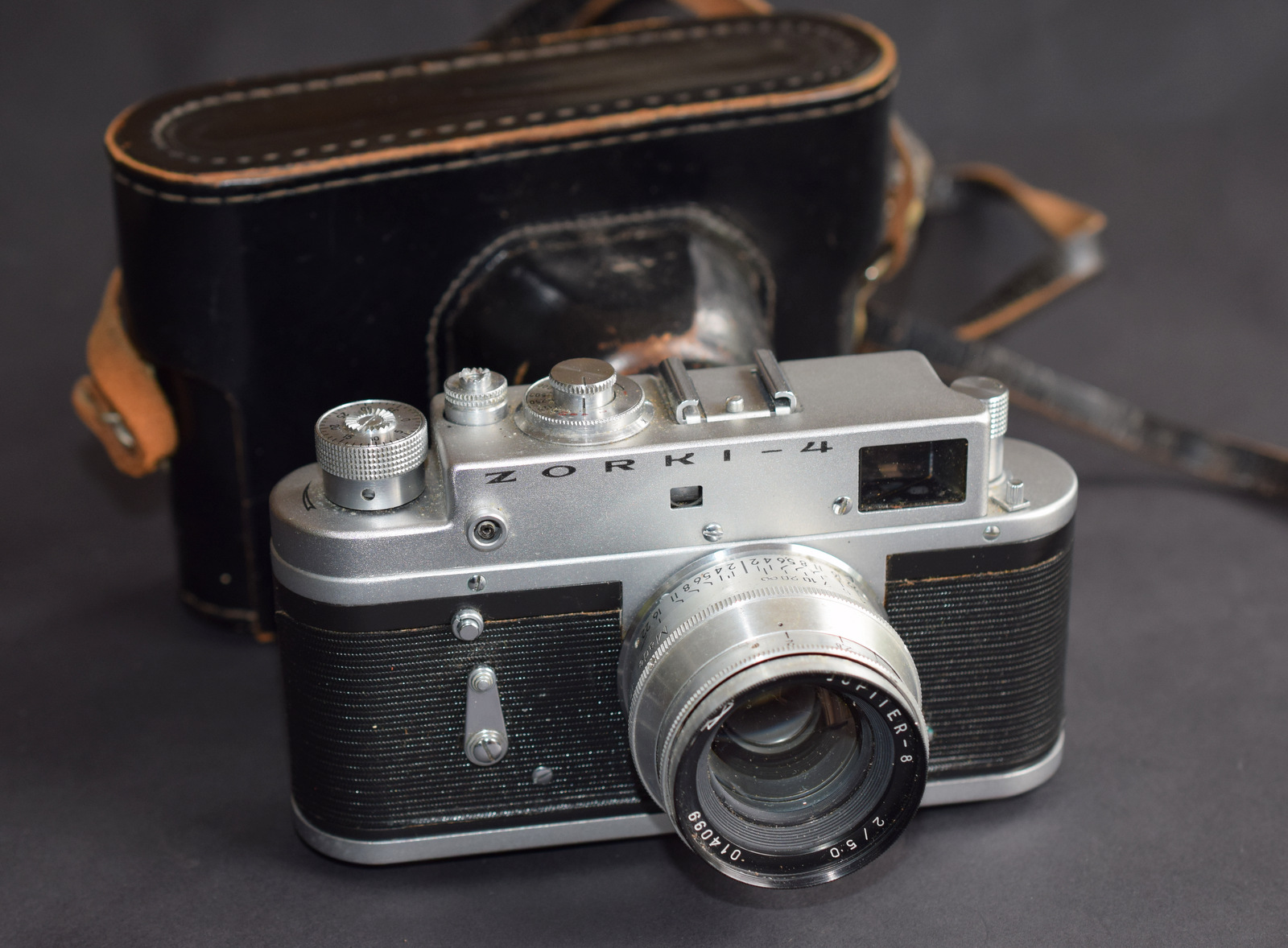 Lot 3 - Vintage Zorki 4 Rangefinder Film Camera With Jupiter 8 2/50