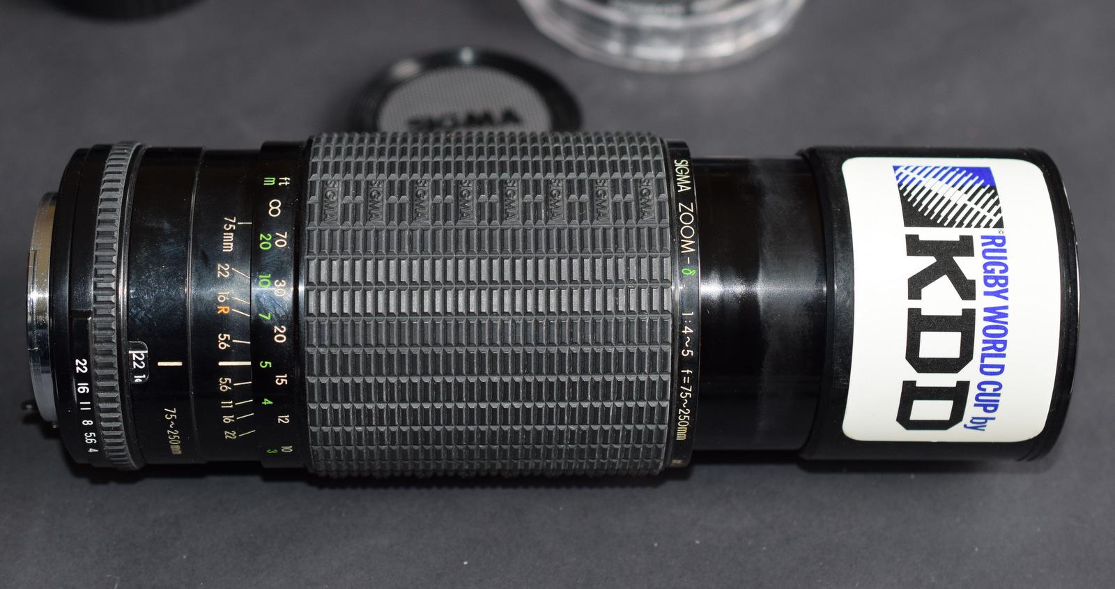 Lot 12 - Sigma Zoom Camera Lens 75-250mm 1:4-5