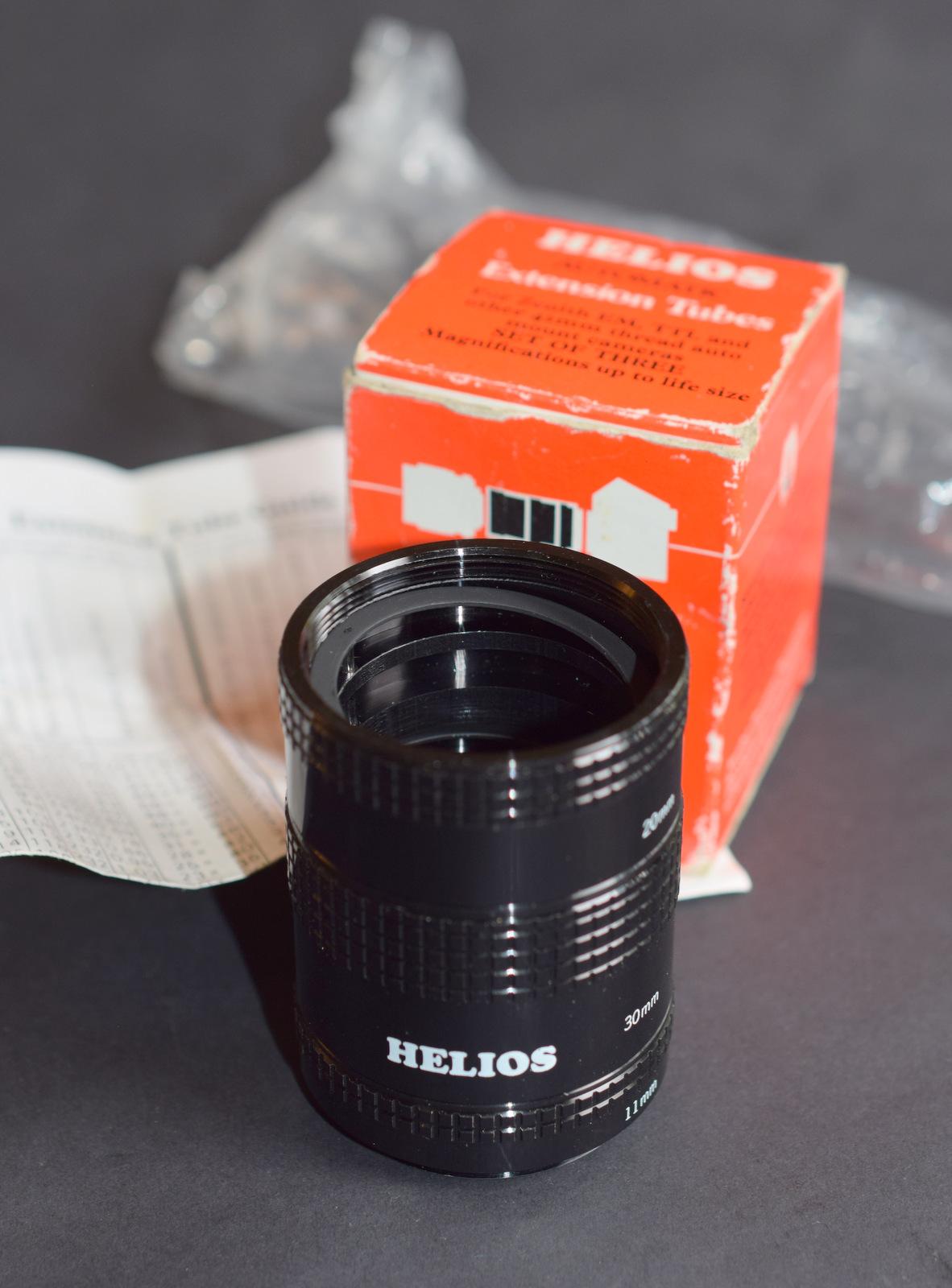 Lot 35 - Set of 3 automatic Helios M42 Screwmount Extension Tubes
