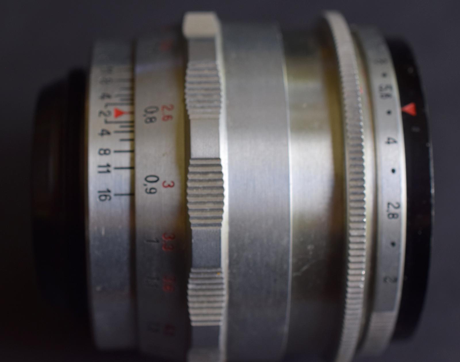 Lot 5 - 1950s Carl Zeiss Jena Biotar Red T Lens f/2 58mm