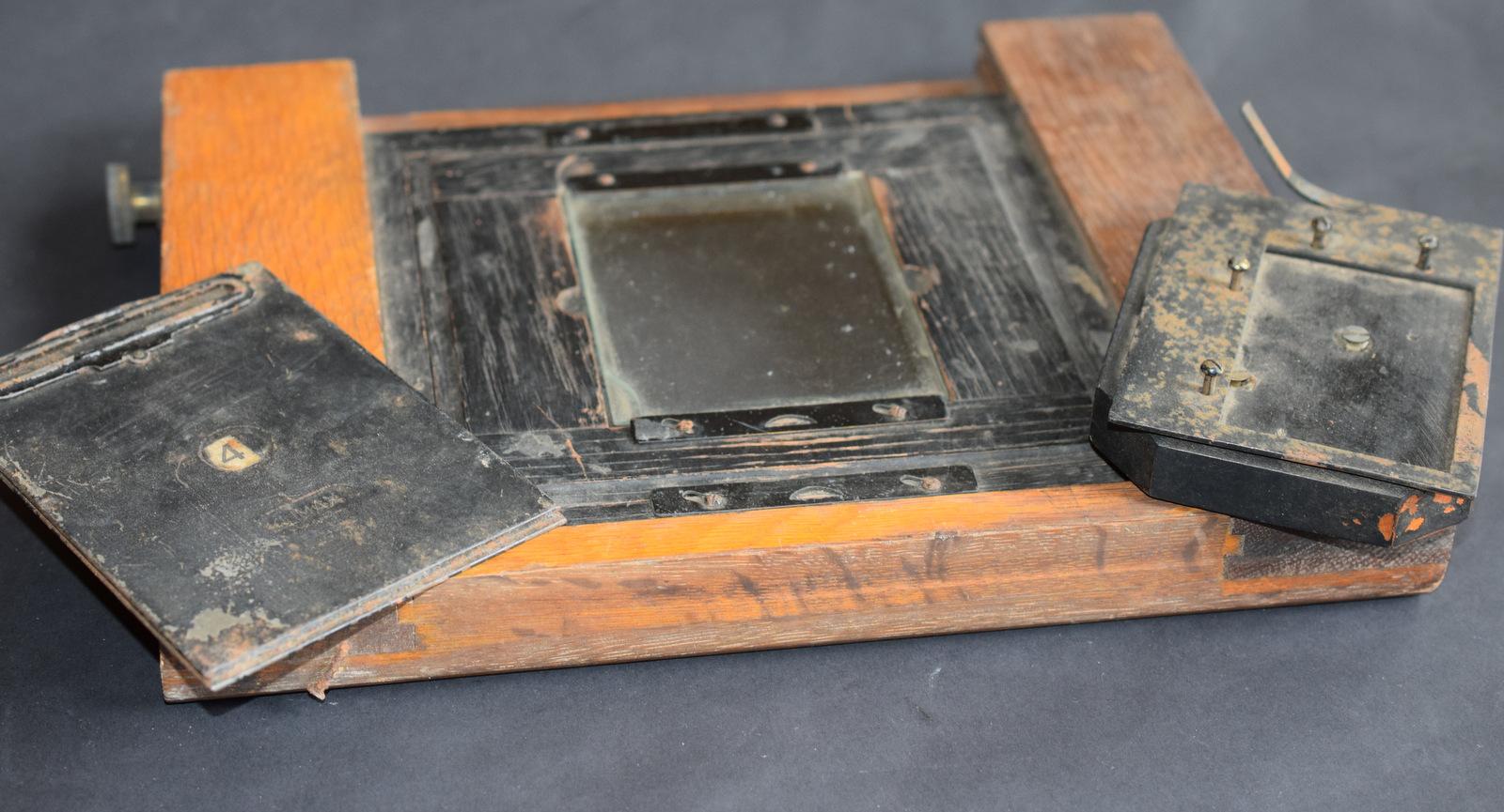 Lot 36 - Antique Box Camera Back Plate