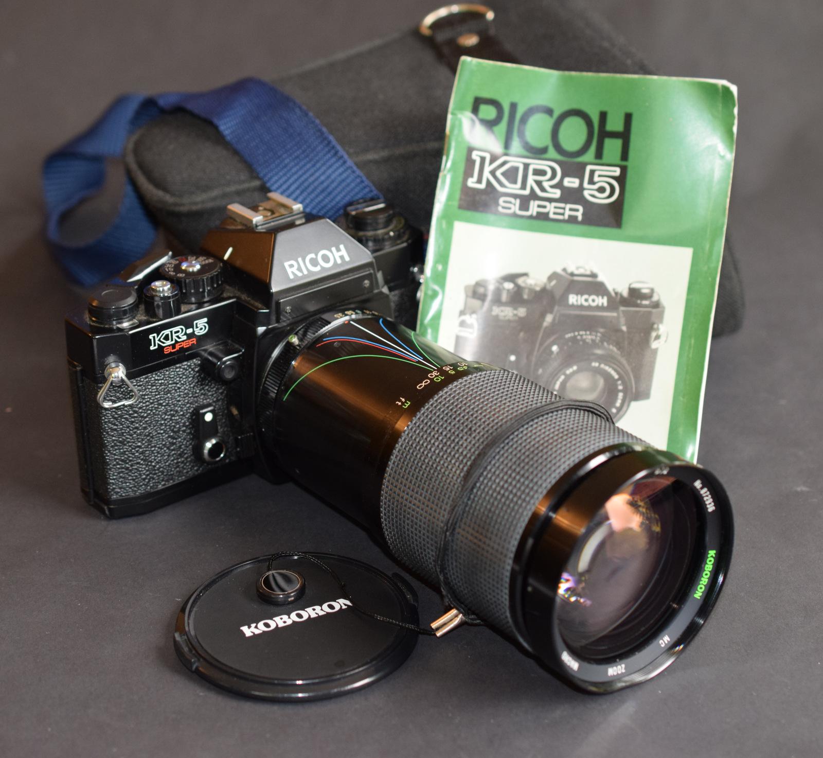 Lot 31 - Ricoh KR-5 Super With Koboron 1:3.5 - 5.3 Lens