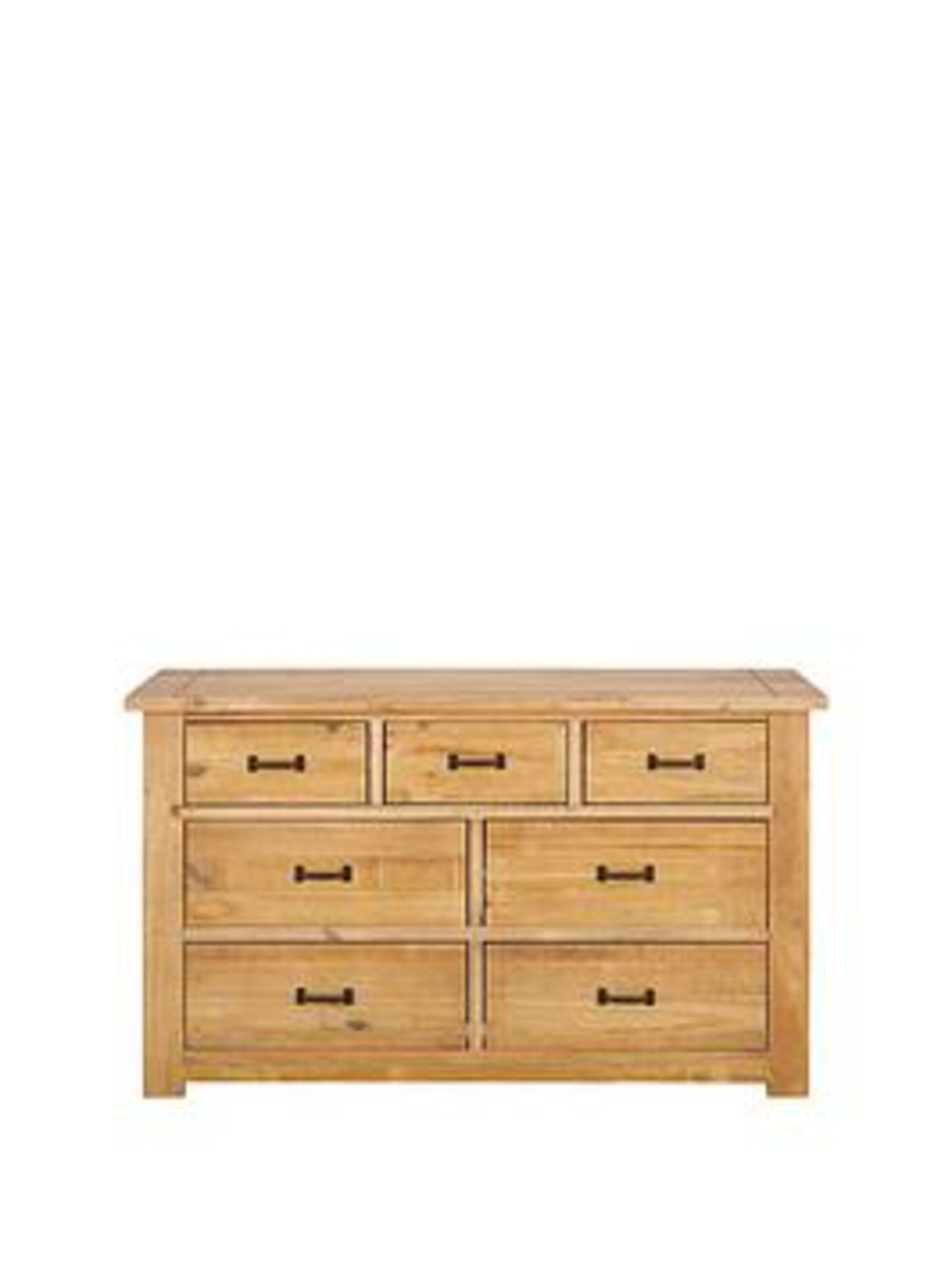 Lot 63 - Boxed Item Albion 7 Drawers Chest [Pine] 77X125X40Cm rrp, £474.0