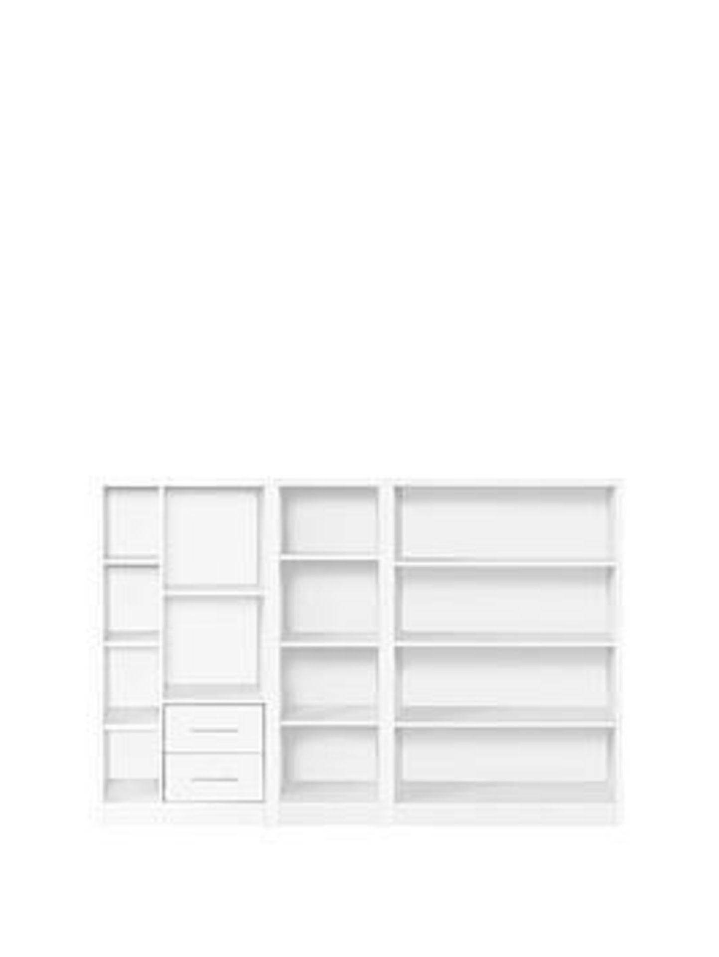Lot 53 - Boxed Item Metro 3 Piece Bookcase [White] 121X79X30Cm rrp, £226.0