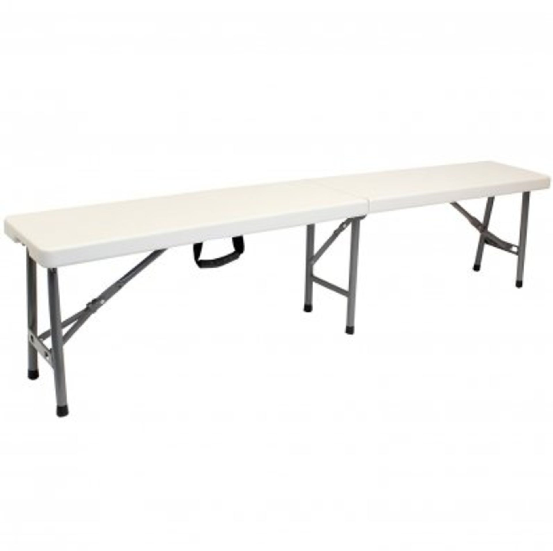 Lot 75 - (RU46) 4 person 6ft Portable Folding Heavy Duty Outdoor Trestle Bench Chair The folding tres...
