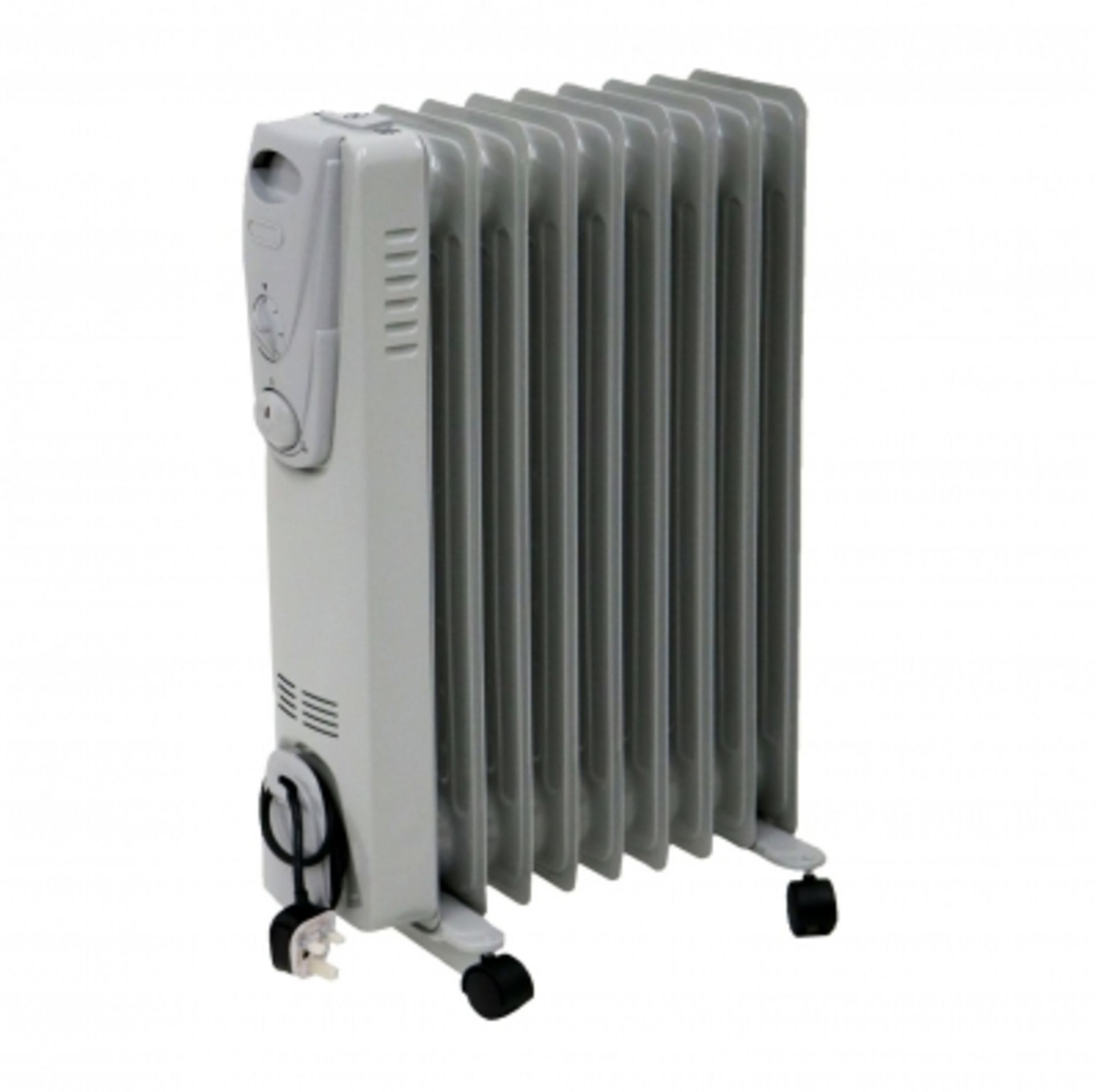 Lot 13 - (RU8) 2000W 9 Fin Portable Oil Filled Radiator Electric Heater The 2000W Oil Filled Radiat...