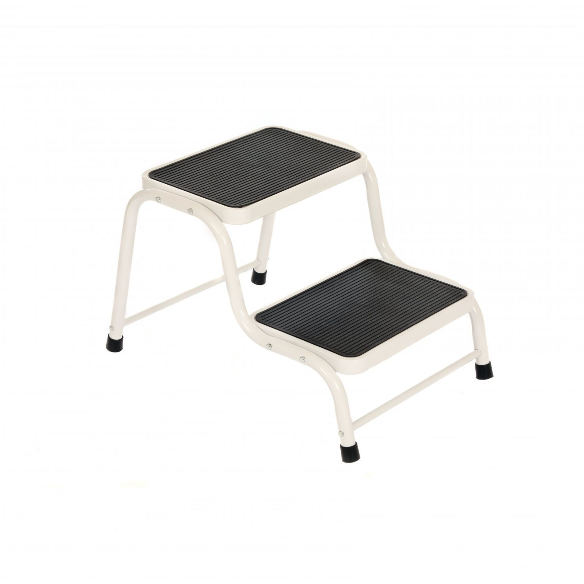 Lot 12 - (RU7) Double Caravan Step Stool Steel Non Slip Rubber Tread Safety The double steps are idea...