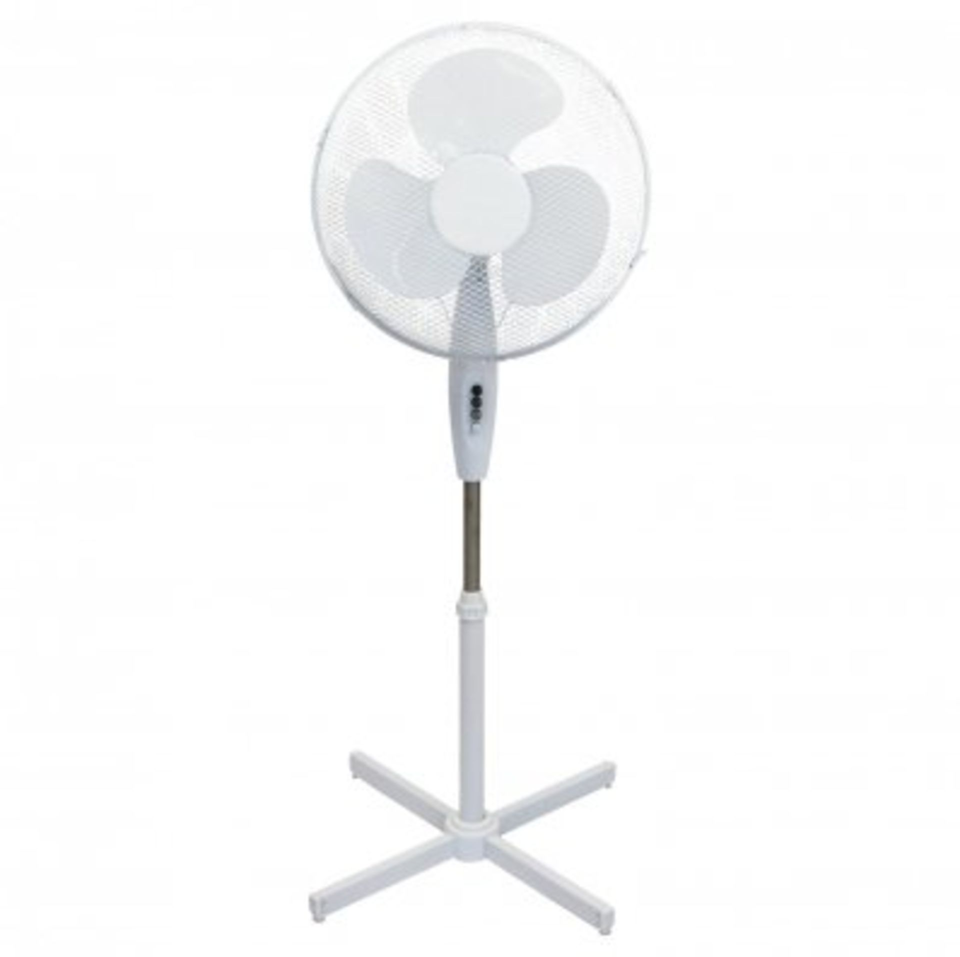 "Lot 6 - (RU2) 16"" Oscillating Pedestal Electric Fan The fan head oscillates and tilts which mea..."
