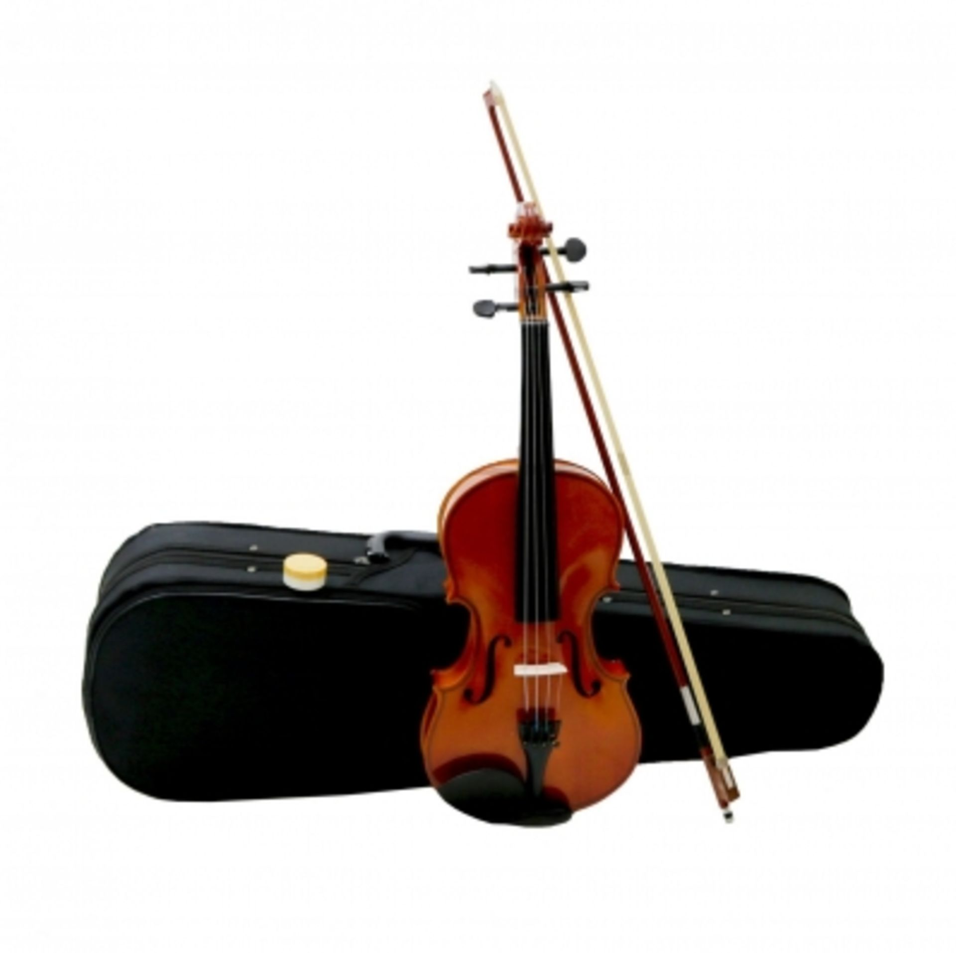 Lot 72 - (RU43) Full Size 4/4 Acoustic Violin Set with Case, Bow & Rosin If you're learning to play v...