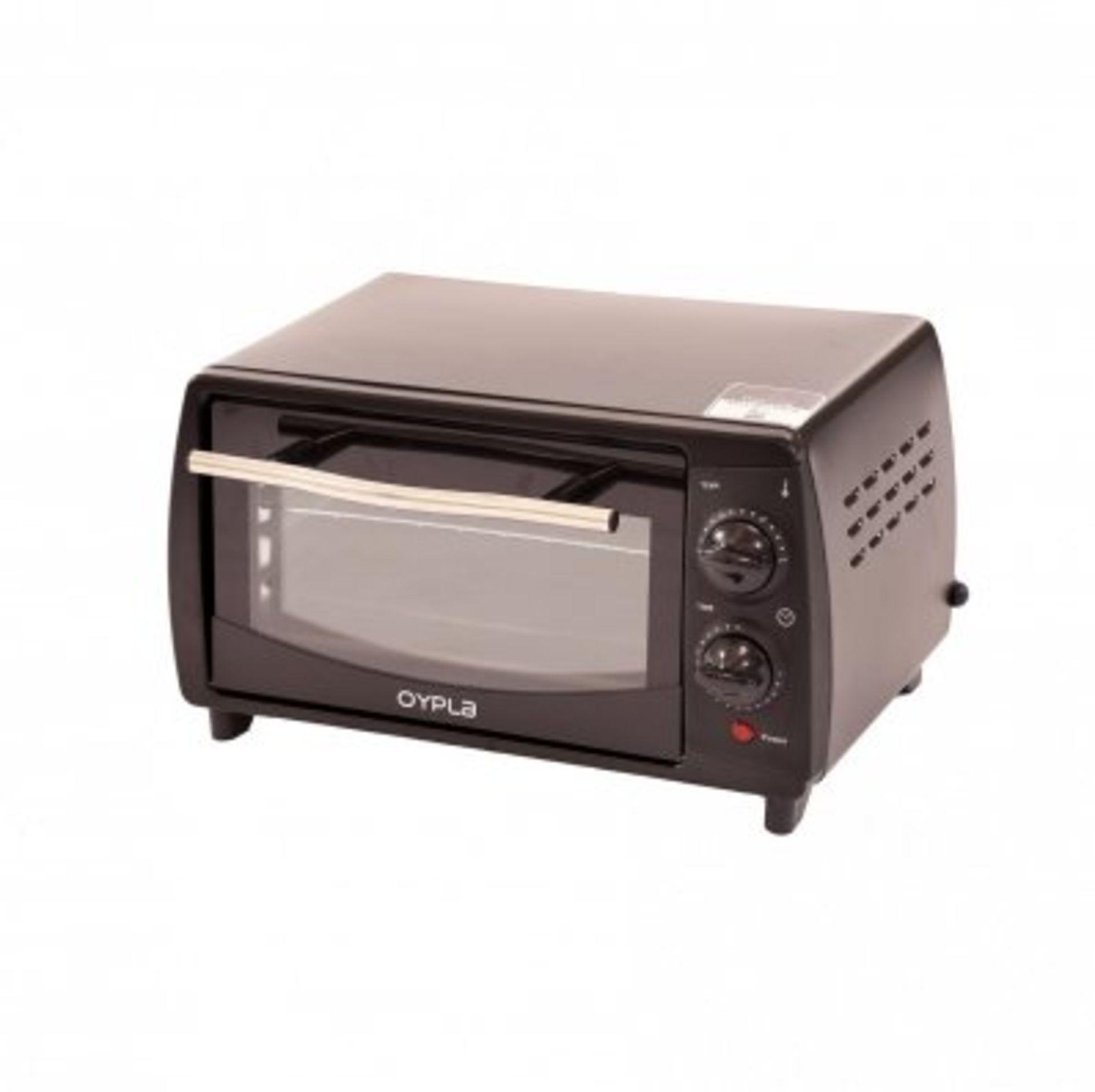 Lot 30 - (RU22) 9L Electric Black Mini Oven 800W 50HZ 230V Adjustable Temperature Control This 9L 80...