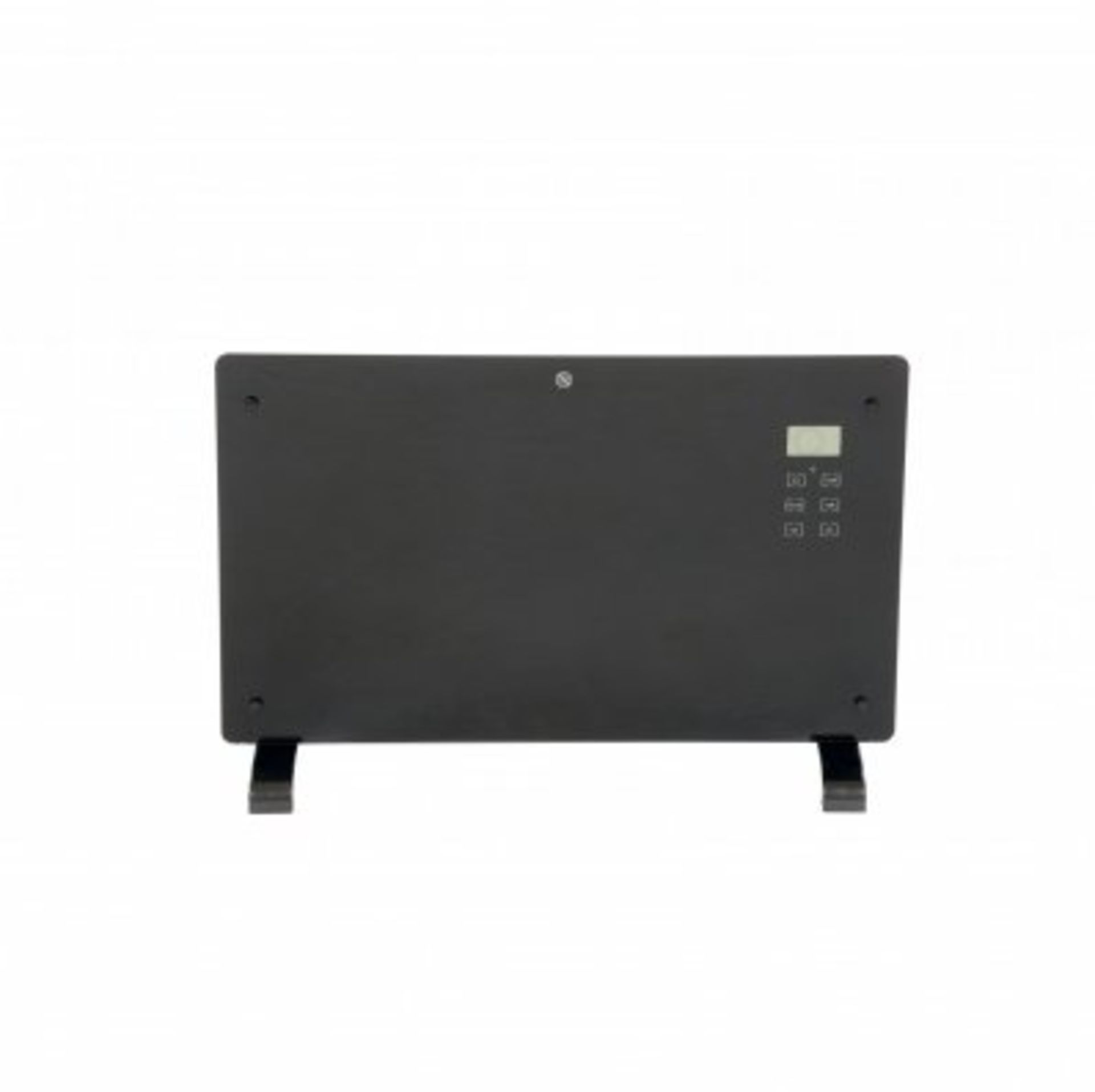 Lot 26 - (RU19) 2000W Black Glass Free Standing Electric Panel Convector Heater Add some class and so...