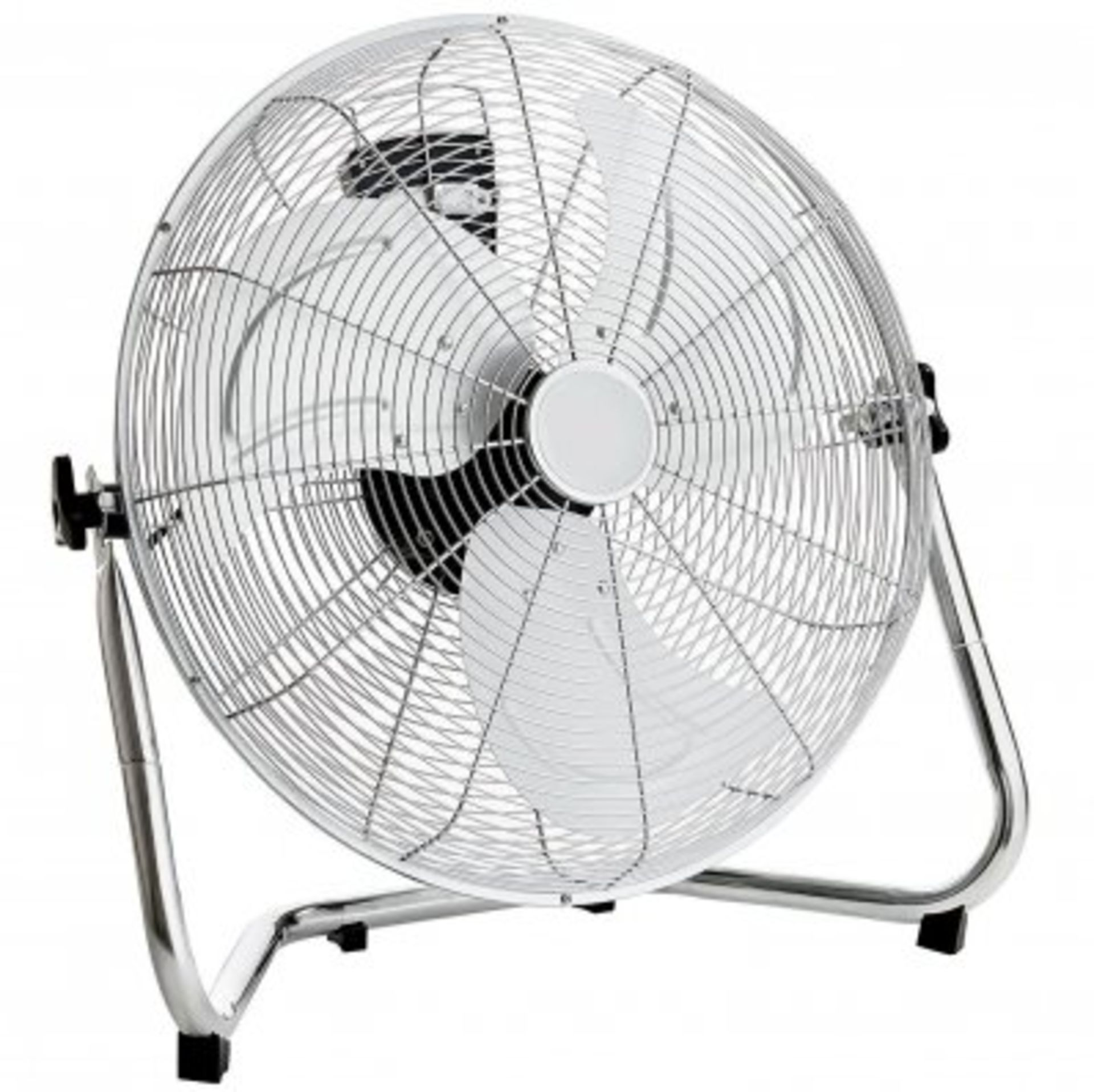 """Lot 10 - (RU5) 18"""" Free Standing Chrome Gym Fan Stay cool this year with the 18"""" gym fan, The fan hea..."""