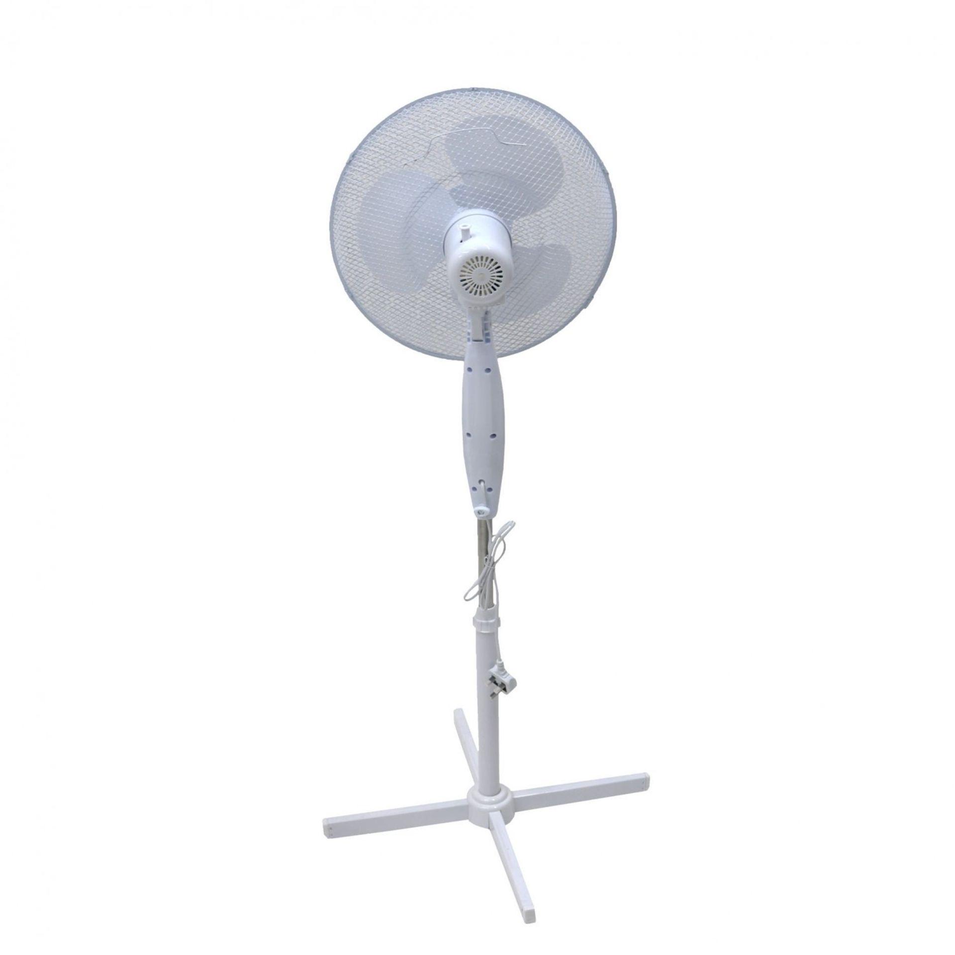 "Lot 4 - (RU2) 16"" Oscillating Pedestal Electric Fan The fan head oscillates and tilts which mea..."