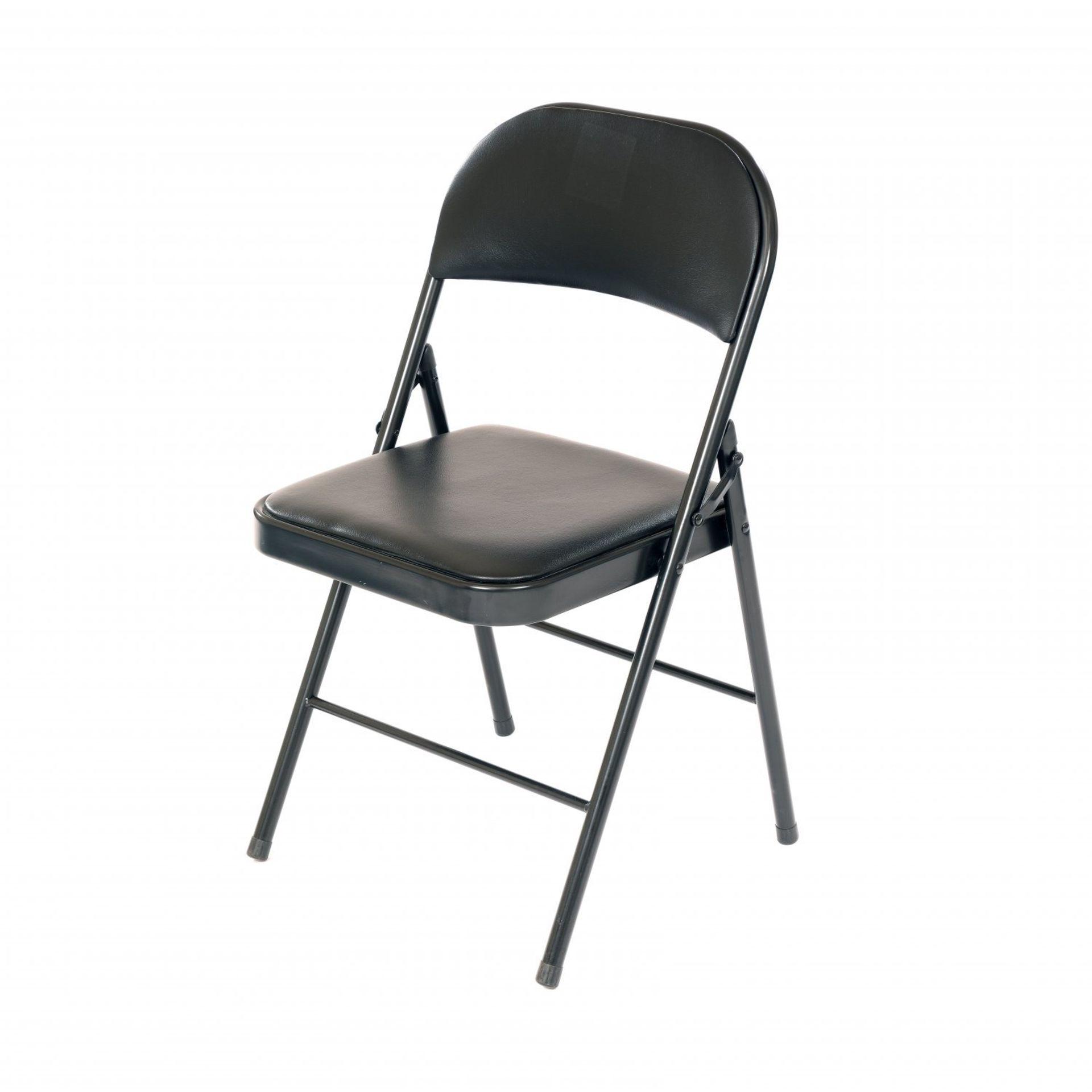 Lot 198 - (SK97) Heavy Duty Padded Folding Metal Desk Office Chair Seat The folding seat is incredib...