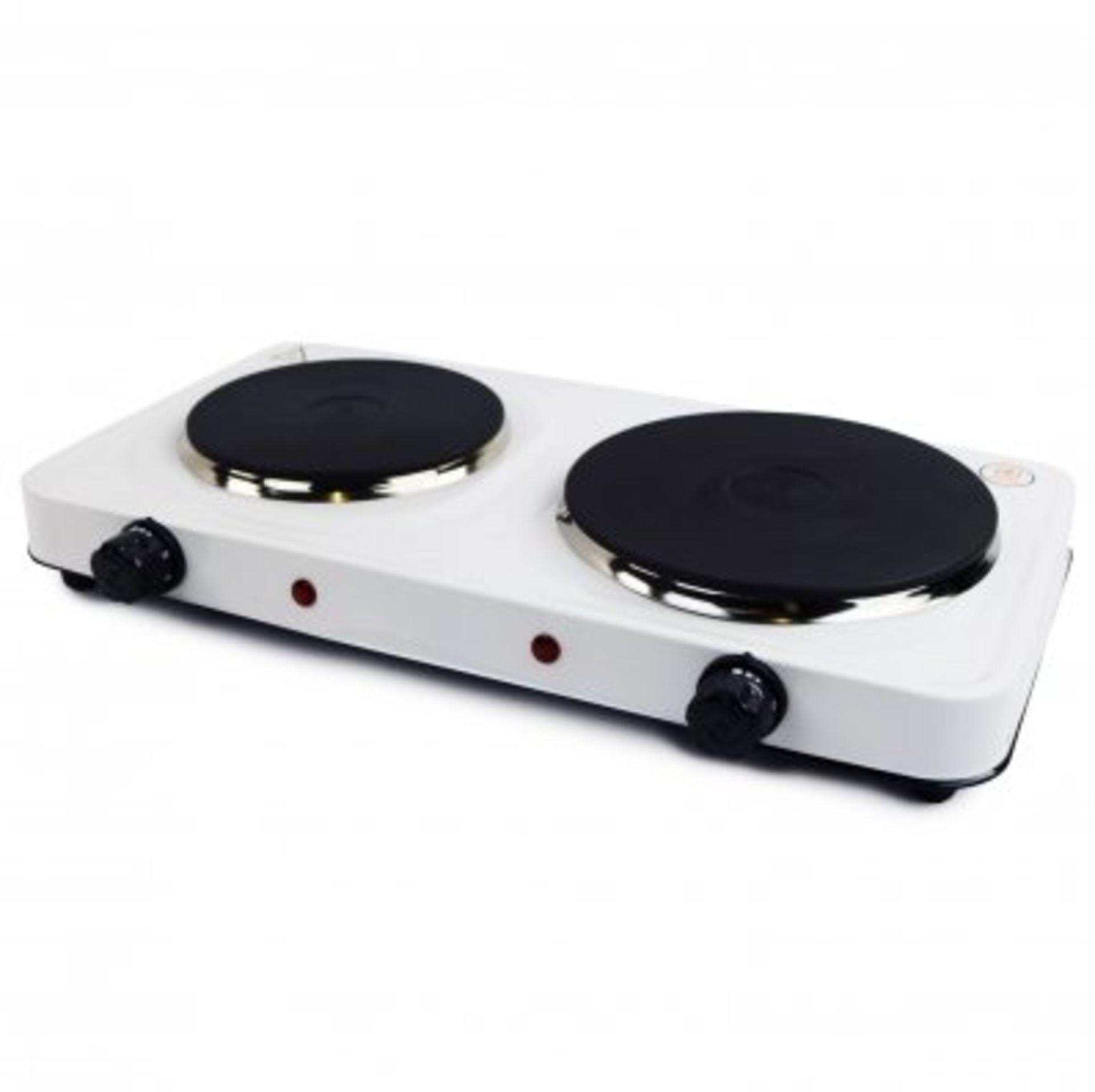 Lot 22 - (RU15) 2.5Kw Electric Portable Kitchen Double Hot Plate The 2.5kW electric hot plate is an e...