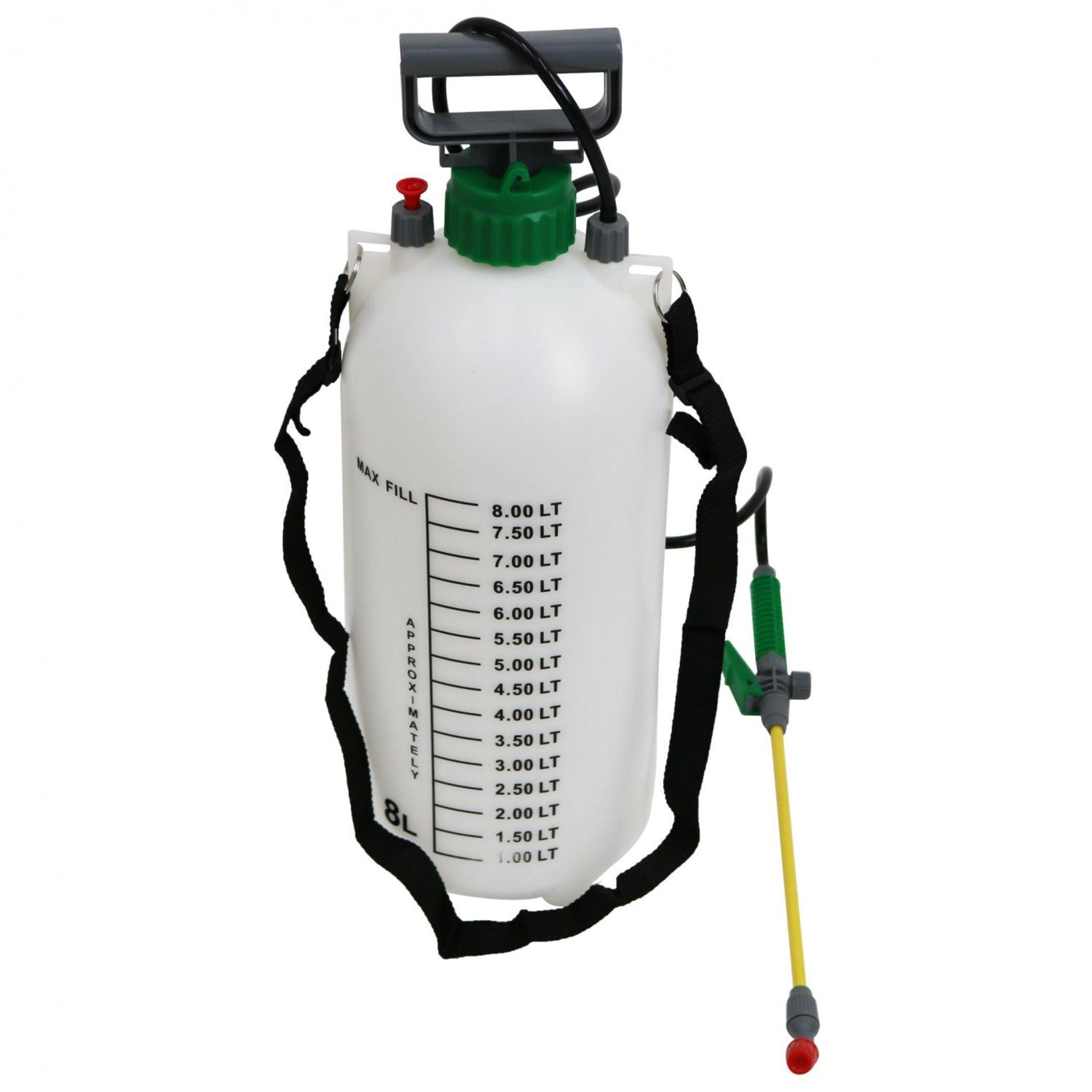 Lot 472 - (RU399) 8L 8 Litre Pump Action Pressure Crop Garden Weed Sprayer The pressure sprayer has a ...