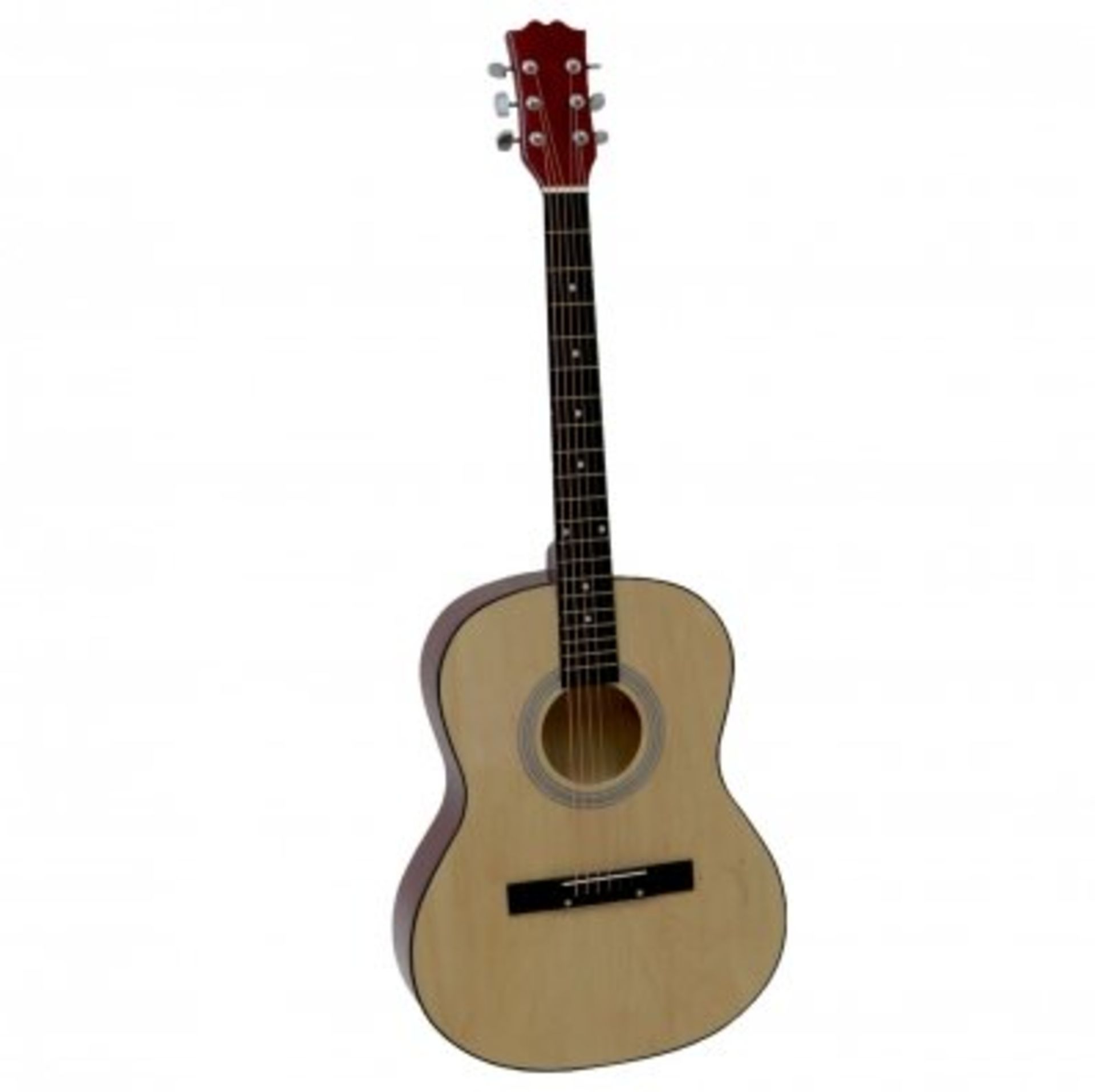 "Lot 73 - (RU44) 39"" Full Size 4/4 6 String Steel Strung Acoustic Guitar Perfect for beginners and exper..."
