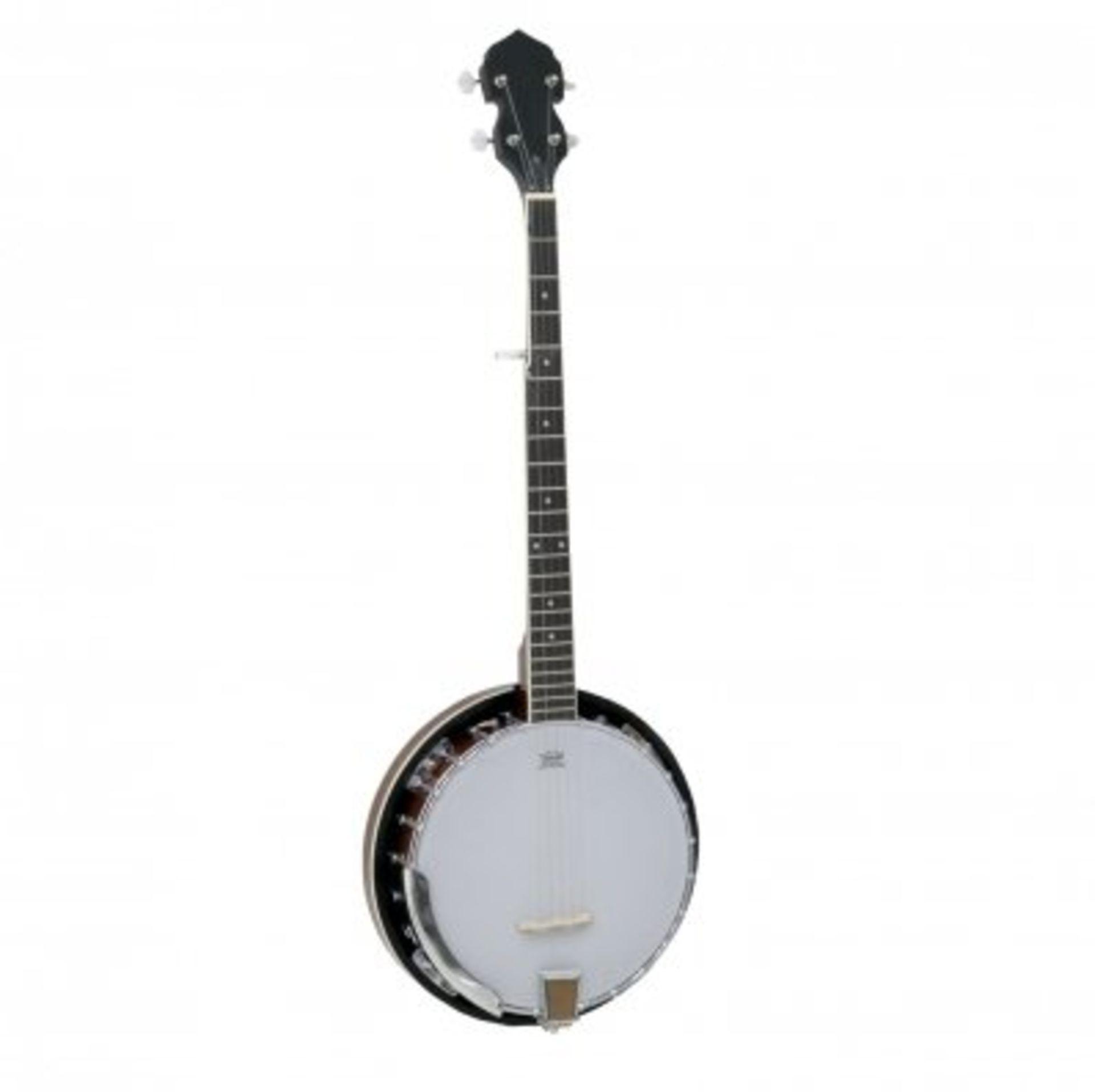 Lot 74 - (RU45) 5 String Bluegrass Banjo with Remo Skin The 5 string bluegrass banjo is great looking...