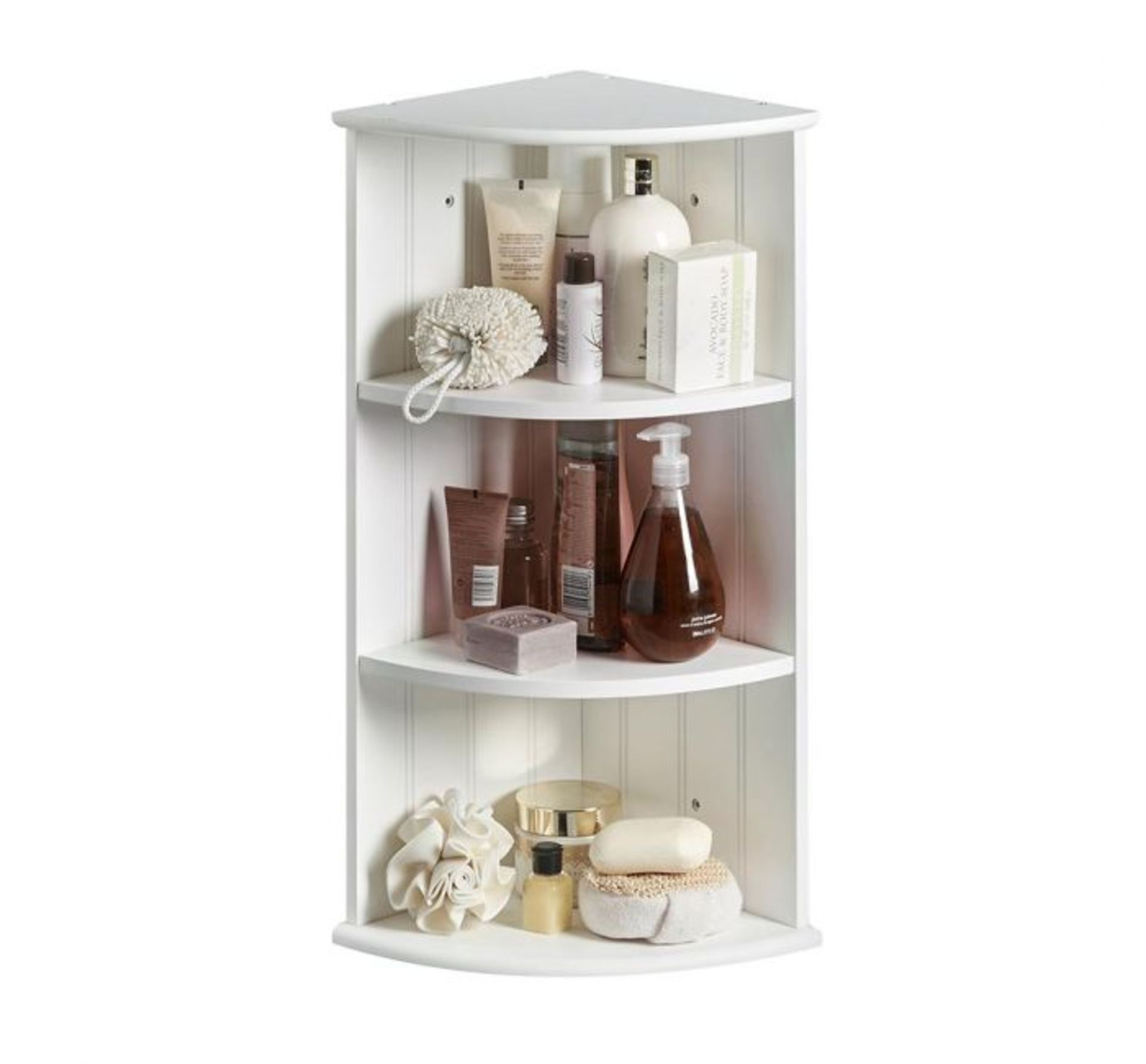 Lot 308 - (HZ65) Colonial Two Shelf Corner Unit Painted MDF Water resistant & easy to clean Two shelve...