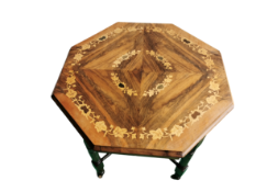Edwardian Inlaid Octagonal Card Table ( Mahogany & Walnut )