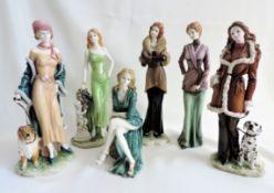 Ladies Of Fashion Porcelain Figurines Set Of 6