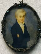 Miniature Portrait Of A Georgian Young Man