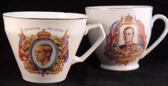 Commemoration Cups X 2 - Edward Viii Coronation 1936
