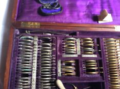 Antique French Optometrists Box Of Lenses