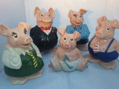 Great Set Of Natwest Piggies
