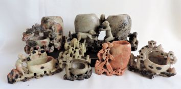 6 Vintage Chinese Soapstone Ornaments