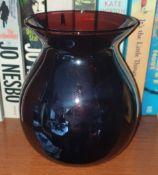 Purple Iridescent Glass Vase