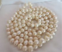 48 Inch Cultured Pearl Necklace Rope Length