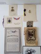 Ww1 Military Xmas Cards And Condolence Cards