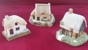 3 X Lilliput Lane Cottages