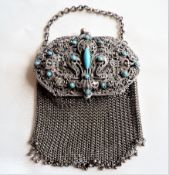 Antique French Chainmail/ Mesh Evening Bag C.1890'S