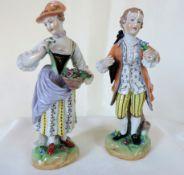 Pair Of Antique Dresden Porcelain Figurines