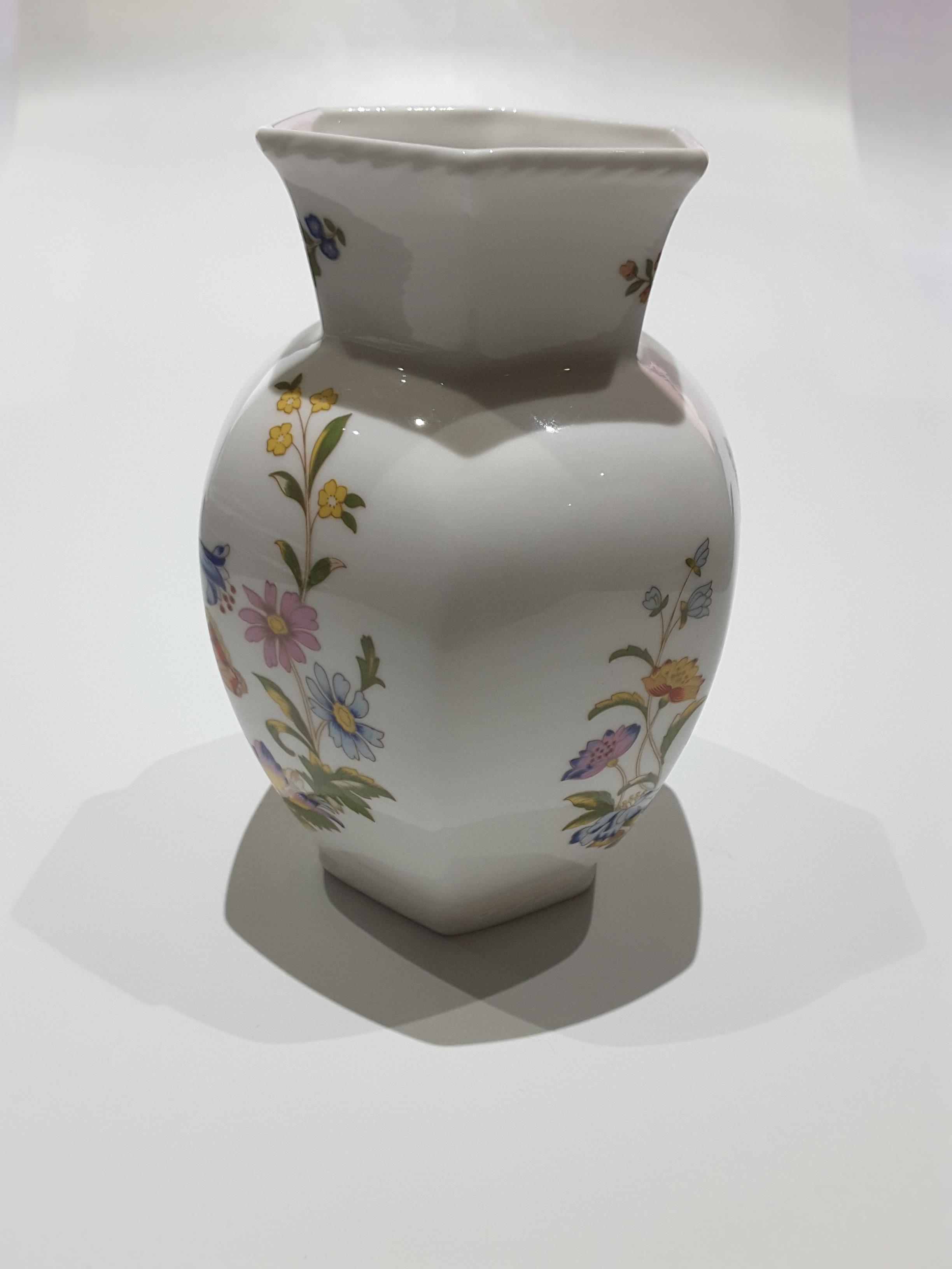 Lot 251 - Aynsley Cottage Garden Hexagonal Vase