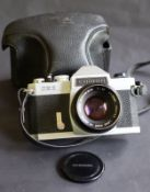 Vintage 35Mm Chinon Cx11 Camera And Lens