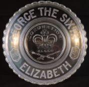 Commemoration Glass Dish - King George Vi Coronation